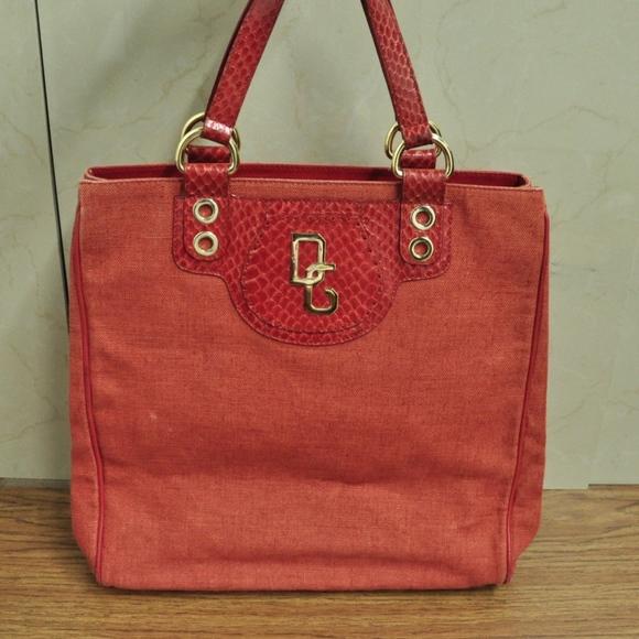Dolce   Gabbana Bags   Dolce Gabbana Canvas Leather Trim Bag Tote ... 1690536c70